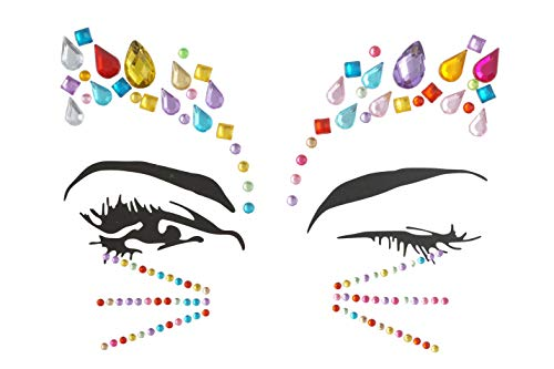 mermaid teardrop crystal face Jewels Halloween Party Body Self Adhesive face Gems(crystal) ()