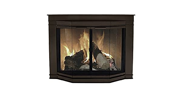 Amazon Pleasant Hearth Glacier Bay Medium Fireplace Glass Doors