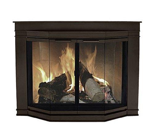 Pleasant Hearth Glacier Bay Medium Fireplace Glass Doors