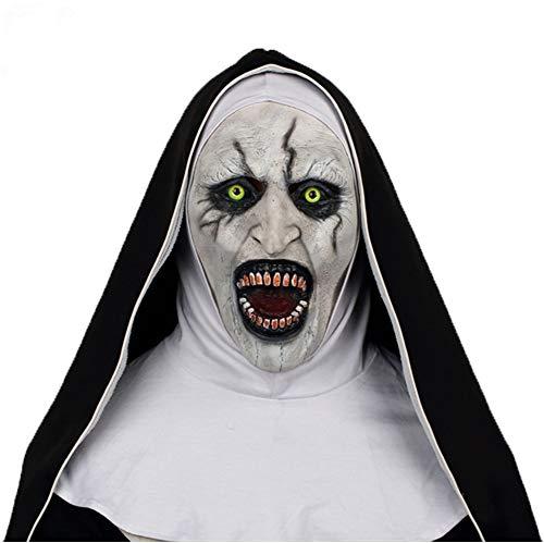 Cosplay the nun コスプレ 修道女 マスク 死霊館のシスター 怖い 仮面 ラテックス ハロウン イベント 大人 女性 変装 お面 道具 Mask