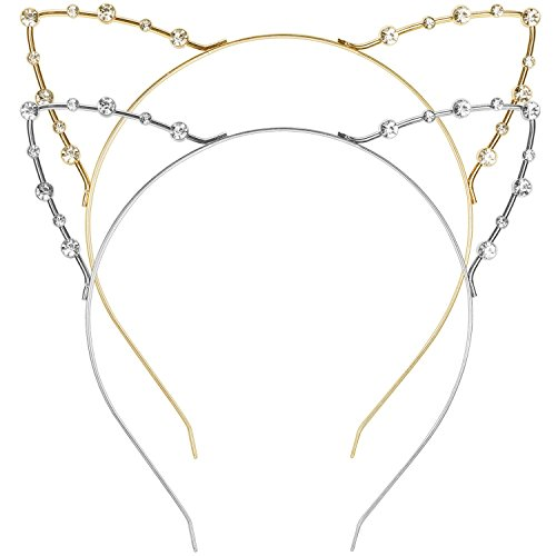 Mudder Headband Pieces Gold Silver