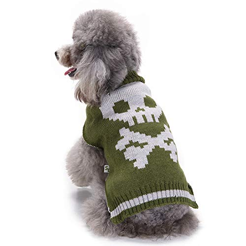 Halloween Taro Pet Clothes Autumn and Winter Pet Clothes Golden Retriever Keji Puppy Sweater (S)]()
