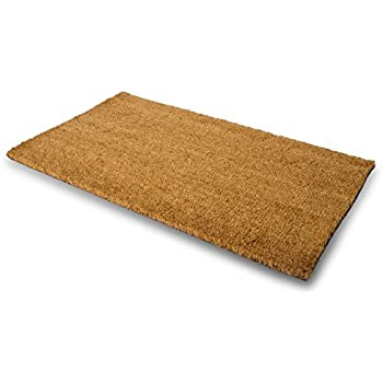 Delicieux MPLUS Pure Coco Coir Doormat With Heavy Duty PVC Backing   Natural   Size: