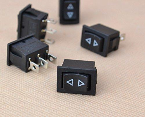 5x Mini Momentary Rocker Switch 3-Pin Spring Hoist Window Temporary Up/Down (Momentary Rocker Switch)