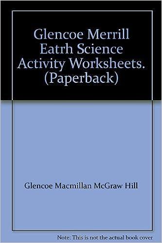Glencoe Merrill Eatrh Science Activity Worksheets. (Paperback ...