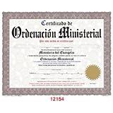 Certificado De Ordenacion Ministerial [4-ct - 14 X 11]