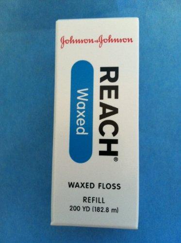 Johnson & Johnson 2749 Floss Dental, Waxed Refill, 200 yd. -