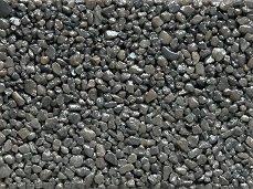 Colored Quartz Gravel Pebbles  Graphite Black, 3 lbs