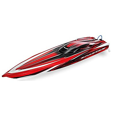 "Spartan 36"" Brushless Race Boat with TSM, TQi 2.4GHz: Red"
