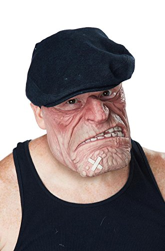 California Costumes Men's Comic Book Brawler Mask, Flesh, One (Funny Halloween Costumes 2016)