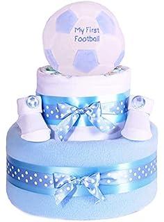 Mi primera pelota de fútbol Star de fútbol para pie azul niños – tarta de pañales