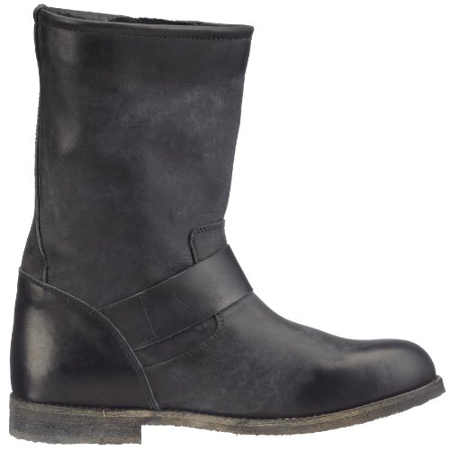 Buffalo London 13980 WASHED LEATHER - Botas biker, talla: 42, color: Negro Negro
