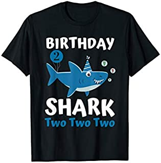 Birthday Shark  2 Matching Family s Birthday Party T-shirt | Size S - 5XL