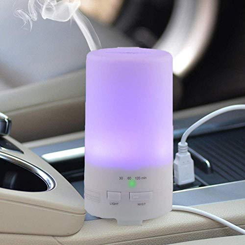 USB Diffuser Cool Mist Humidifier with Colorful LED Lights, Waterless Auto Shut-off, Mini Cool Mist aromatherapy Humidifier with Colorful LED lights, for car & room air refresher, purifier,humidifier.