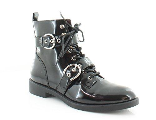Marc Jacobs Women's Taylor Double Strap Motorcycle Boot, Black, 37 EU/7 M US