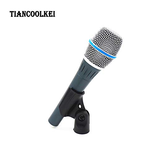 (HATCHMATIC! Real Condenser Microphone BETA87A Top Quality Beta 87A Supercardioid Vocal Karaoke Handheld Microfone Mike Mic)