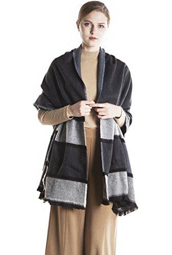 Women's Blanket Plaid Scarf, Fashion Tassels Scarf Shawl Christmas Gift KAISIN