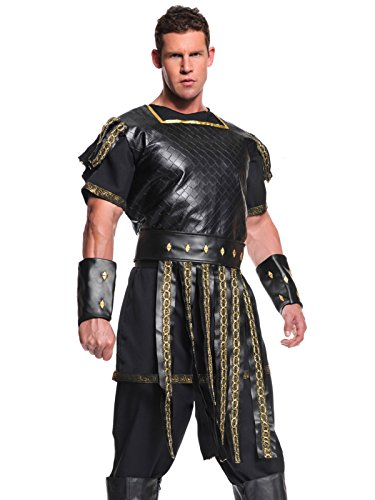 Spartan Chest Plate Costume (Roman Solider Costume 5 Piece Set Mens Historical Theater Costumes Sizes: One Size)