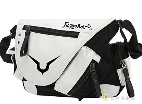 Code Geass Lelouch Cosplay Costumes (YOYOSHome Code Geass Anime Cosplay Backpack Messenger Bag Shoulder Bag)
