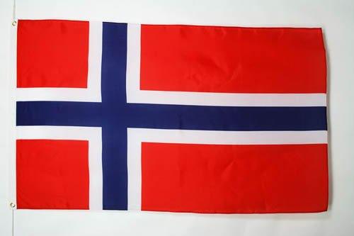 BANDERA de NORUEGA 90x60cm - BANDERA NORUEGA 60 x 90 cm - AZ FLAG
