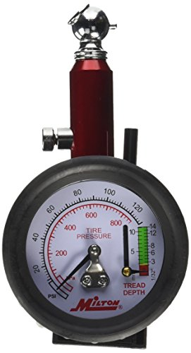 (Milton (S-934) Dial Tire Pressure Gauge - Single Head Tire Tread Depth Gauge )