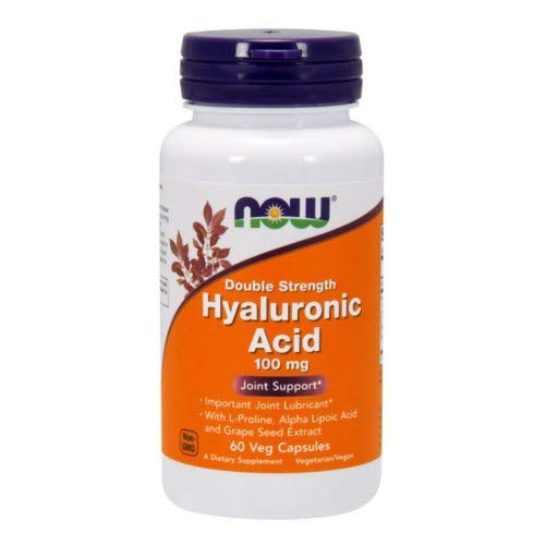 NOW Foods, HYALURONIC ACID 100MG 2X PLUS 60 VCAPS ( Multi-Pack)