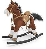 MILLY MALLY 5907717434157 – Cavallo a Dondolo Giocattolo con Orsacchiotto con Effetti sonori, Bianco