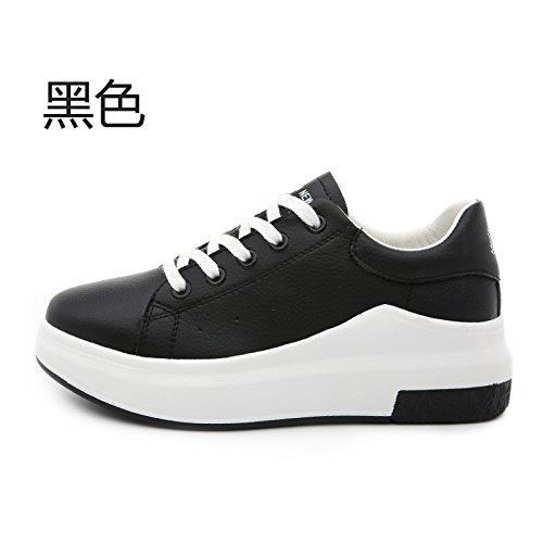 GTVERNH-Zapatillas Zapatos Casual zapatos de los deportes todo el partido estudiantes blancosBlackTreinta y seis Treinta y ocho
