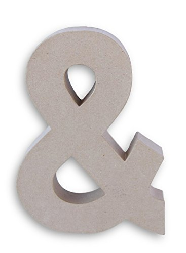 Darice Paper Mache Symbol for Craft or Display - Ampersand - 12 Inches x 8.5 Inches x 1.5 Inches ()