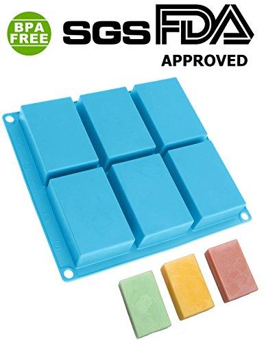 PERNY Silicone Soap Mold,3 x 2 inch Crayon Ice Cake Decoration Mold, Reusable, BPA Free