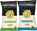 Popcorners Chessy Flavor Mix 1.1oz Bags – Half Cheesy Jalapeno/ Half White Cheddar (50 Pack)