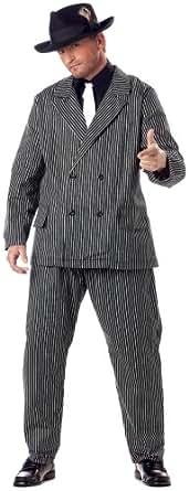 California Costumes Men's Plus Size-Gangster, Black/White, PLUS (48-52) Costume