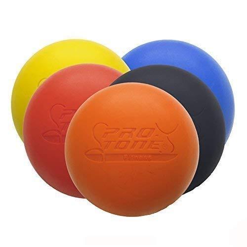 PROTONE® Lacrosse Bola para Punto de activación Masaje/rehabilitación/Fisioterapia/Crossfit (Naranja)