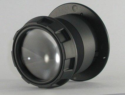 Door Scope DS2000 Door Viewer - Aluminum x Black (Wide Peephole Angle)