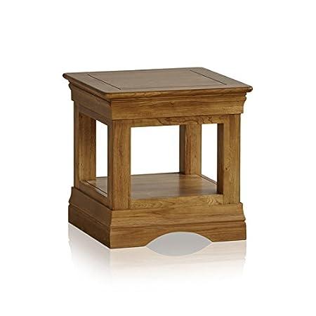 Mesa Auxiliar rústica de Roble Macizo para Muebles de Granja ...