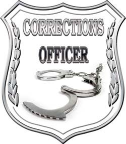 Charmant Corrections Officer Badge Decal Wtih Handcuffs   3u0026quot; H   REFLECITVE