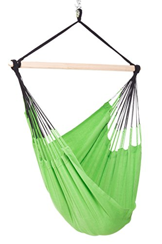 Colombian Hammock Chair - 44 inch - Natural Cotton Cloth (Lime) Limbs Cloth Body