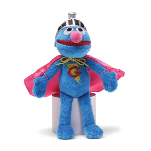 Gund Sesame Street Super Grover Beanbag Stuffed Animal (Sesame Street Stuffed Animals)