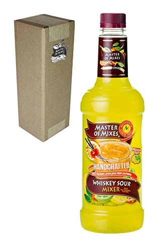 Master of Mixes Whiskey Sour Drink Mix, Ready To Use, 1 Liter Bottle (33.8 Fl Oz), Individually Boxed - Mix Orange Vodka