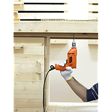 BLACK+DECKER BD65RD 400W 6.5mm Variable Speed Reversible Rotary Drill (Orange, 2-Pieces) 12