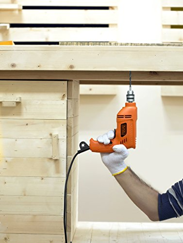 BLACK+DECKER BD65RD 400W 6.5mm Variable Speed Reversible Rotary Drill (Orange, 2-Pieces) 6