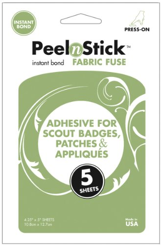Thermoweb Peeln Stick Fabric Fuse Sheets 4 1 4 X5  5 Pkg