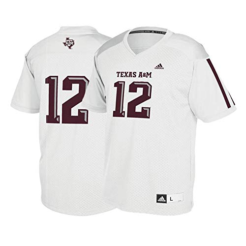(adidas Texas A&M Aggies #12 NCAA Youth White Official Football Replica Jersey (S))