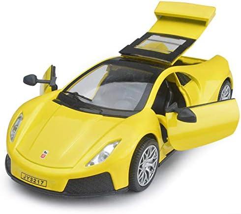 QAQW 1:32 España Spano GTA Simulación Aleación Modelo De Coche Sonido Y Luz Tire hacia Atrás Modelo De Coche De Juguete De Los Niños: Amazon.es: Hogar