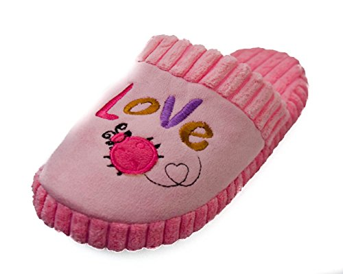 BTS - Zapatillas de estar por casa de tela para mujer rosa - rosa