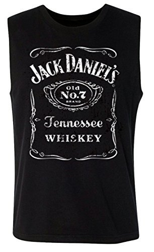 Used, Jack Daniels Men's Daniel's Label Sleeveless Tee Black for sale  Delivered anywhere in USA