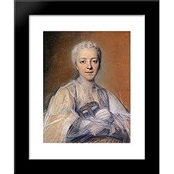 Jeanne Elisabeth de Geer, Baroness Tuyll 20x24 Framed Art Print by Maurice Quentin de La Tour