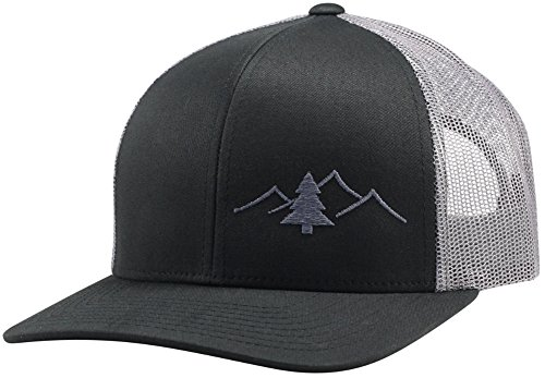 Pro Trucker Hat - Lindo Trucker Hat - Great Outdoors Collection (Black/Graphite)