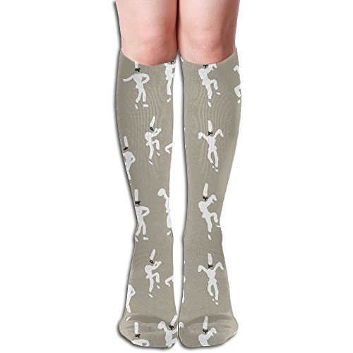 Long Stocking Dancing People Women's Over Knee Thigh Winter Warm Sexy Stocks Knitting Welt ()