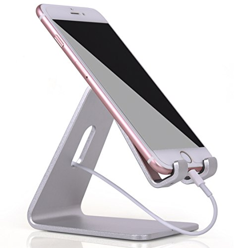 Cell Phone Stand, KAERSI K1 iPhone iPad Universal Stand Holder, Desk Dock Mount for iPhone 6 6s 7 Plus 4s 5c 5 5s Charging, Samsung Mobile phone and Tablet Accessories iPhone Desktop Display - Silver (4s Mobile)